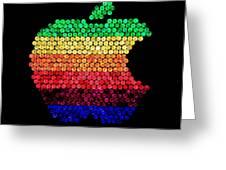Lite Brite Macintosh Greeting Card