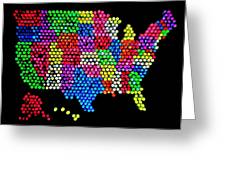 Lite Brited States Of America Greeting Card