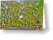 Literary Walk In Central Park Greeting Card