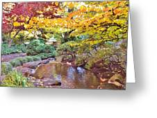 Lithia Park Ablaze With Fall Color Greeting Card