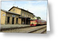 Lithuania. Silute Train Station. 2008 Greeting Card