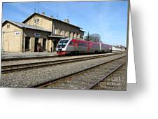 Lithuania. Silute Train Station. 2009 Greeting Card