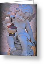 Little Angels Light The Way Greeting Card by John Malone