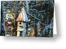 Little Birdhouse In The Woods Greeting Card