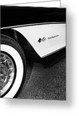 Little Black Corvette Palm Springs Greeting Card