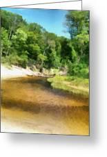 Little Black Creek - Hoffmaster State Park Greeting Card