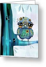 Little Blue Bird Greeting Card by Karin Taylor