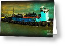 Little Blue Tug - New York City Greeting Card