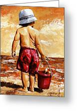 Little Boy On The Beach II Greeting Card