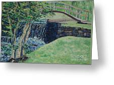 Little Bridge Over Spring Creek - Sold Greeting Card