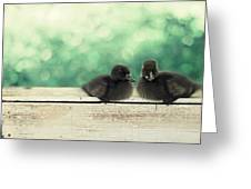Little Buddies Greeting Card by Amy Tyler