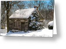 Little Cabin In The Woods Greeting Card