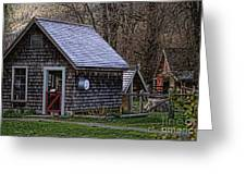 Little Cedar Shake Building Greeting Card