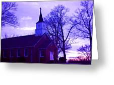 Little Church At Night Greeting Card