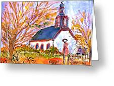 Little Church In Ginsheim Greeting Card