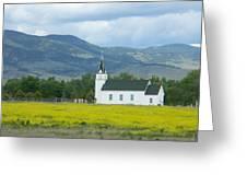 Little Church On Montana Prairie Greeting Card