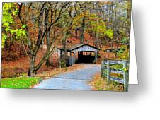 Little Covered Bridge Greeting Card