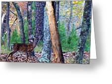 Little Deer In Autumn Greeting Card