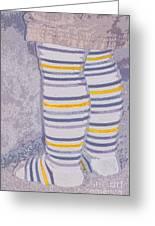 Little Feet-yellow Greeting Card