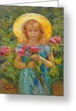 Little Flower Girl Greeting Card