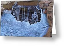Little Frozen Waterfall Greeting Card
