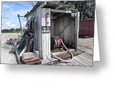Little Gas Shack Greeting Card
