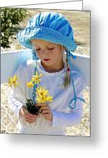 Little Girl Blue  Greeting Card