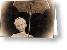 Little Girl With Umbrella Greeting Card