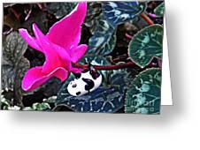 Little Glass Pandas 78 Greeting Card