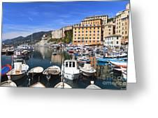 little harbor in Camogli Greeting Card