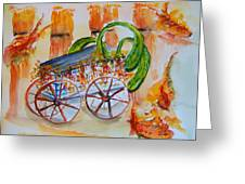 Little Harvest Wagon Greeting Card