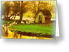 The Geese Have A Little House By The Flood Greeting Card