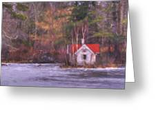 Little House On The Lake Greeting Card
