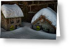 Little Houses Big Snow Greeting Card