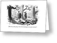 Little John And Robin Hood Walk Greeting Card
