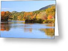 Little Long Pond And Bubbles Mount Desert Island Maine Greeting Card