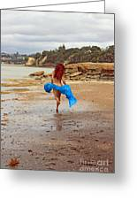 Little Mermaid On Land Greeting Card