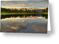 Little Molas Lake At Sunset Greeting Card