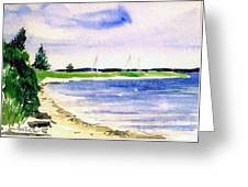 Watch Hill Cove Greeting Card by Joan Hartenstein