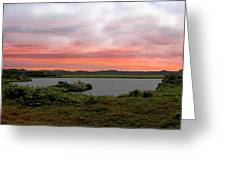 Little Pond Near The Ocean Panorama Greeting Card