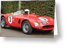 Little Red Ac Bristol Racer Greeting Card