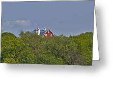 Little Red Barn In The Vale Greeting Card