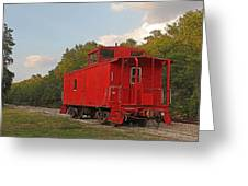 Little Red Caboose Greeting Card