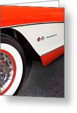 Little Red Corvette Palm Springs Greeting Card