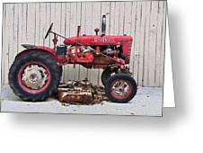 Little Red Farmall Greeting Card