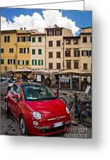 Little Red Fiat Greeting Card