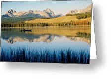 Little Red Fish Lake, Stanley, Idaho Greeting Card