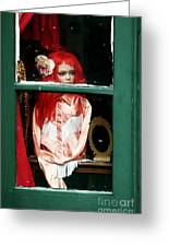 Little Red-haired Girl Greeting Card