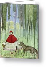Little Red Riding Hood, Artwork Greeting Card