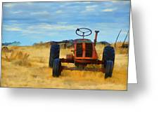 Little Red Tractor 4 Greeting Card
